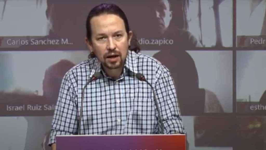 Pablo Iglesias, en el Consejo Confederal de Unidas Podemos.