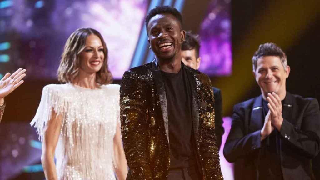 Kelly y los 'coaches', emocionados en la gran final de 'La Voz'.