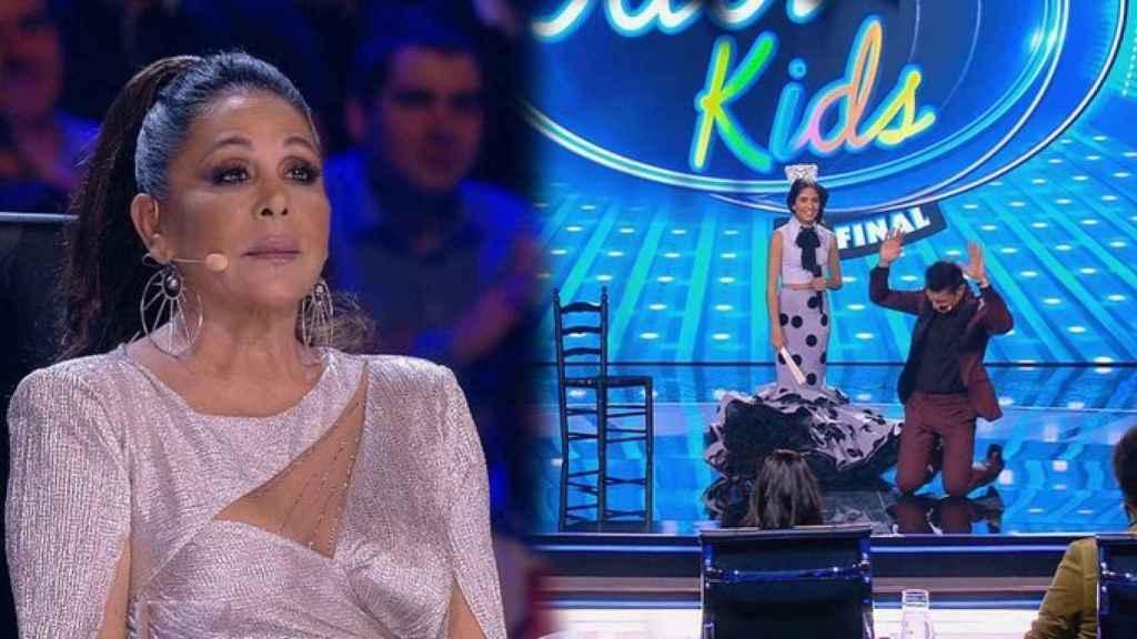 Isabel Pantoja le ha prometido a Jesús Vázquez que le regalará una de sus batas de cola.