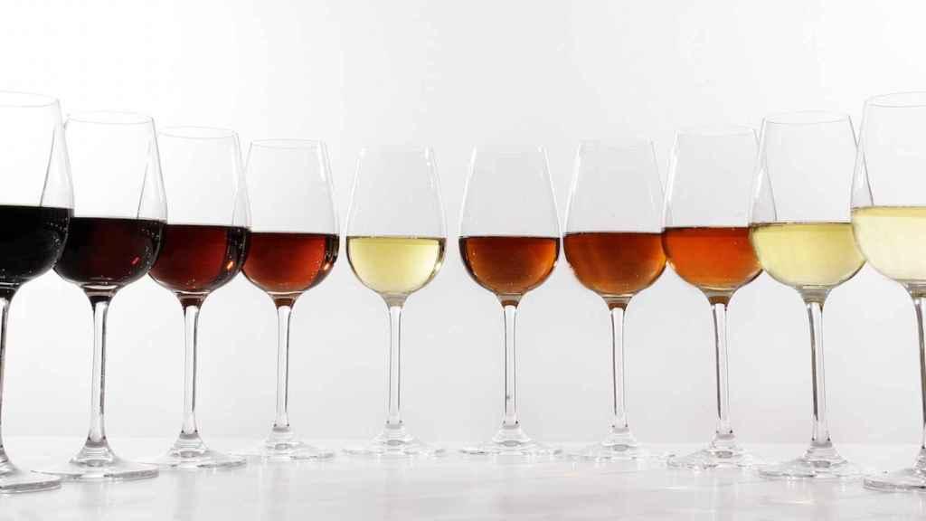 Así es la gama cromática de los vinos de Jerez.