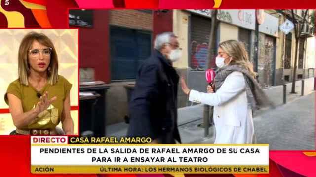 El momento en el que el padre de Rafael Amargo increpa a Giovanna González de 'Socialité'.