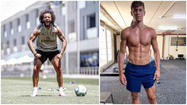 Las imágenes del mundo del deporte: Marcelo copia el 'método Llorente' para ponerse en forma