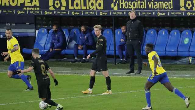 Ronald Koeman, durante el Cádiz - Barcelona de La Liga