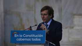 El alcalde de Madrid, José Luis Martínez-Almeida, durante el homenaje del PP de Madrid a la Constitución este sábado.