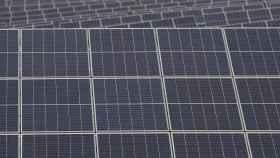 Paneles solares de la planta Andévalo de Iberdrola.