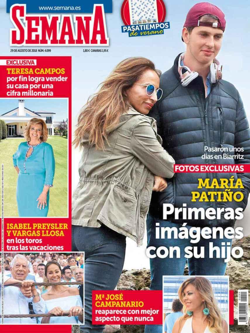 Julio fue 'presentando' públicamente en 2018 en una portada de la revista 'Semana'.