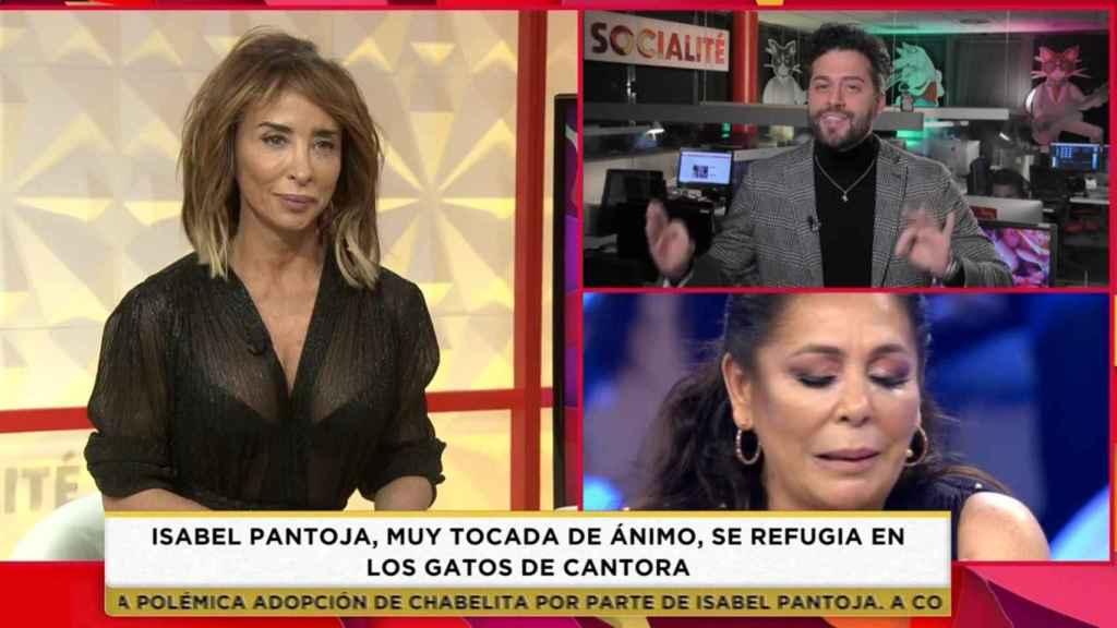 María Patiño se ha emocionado tras ver la iglesia en la que se casó Pantoja porque es donde bautizó a su hijo.