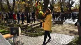 La alcaldesa de Talavera, Tita García, este domingo en el Homenaje a la Constitución celebrado en la ciudad
