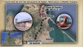 Mohamed VI rodea Ceuta y Melilla con grandes obras para forzar la cosobenaría: lo último, un tranvía