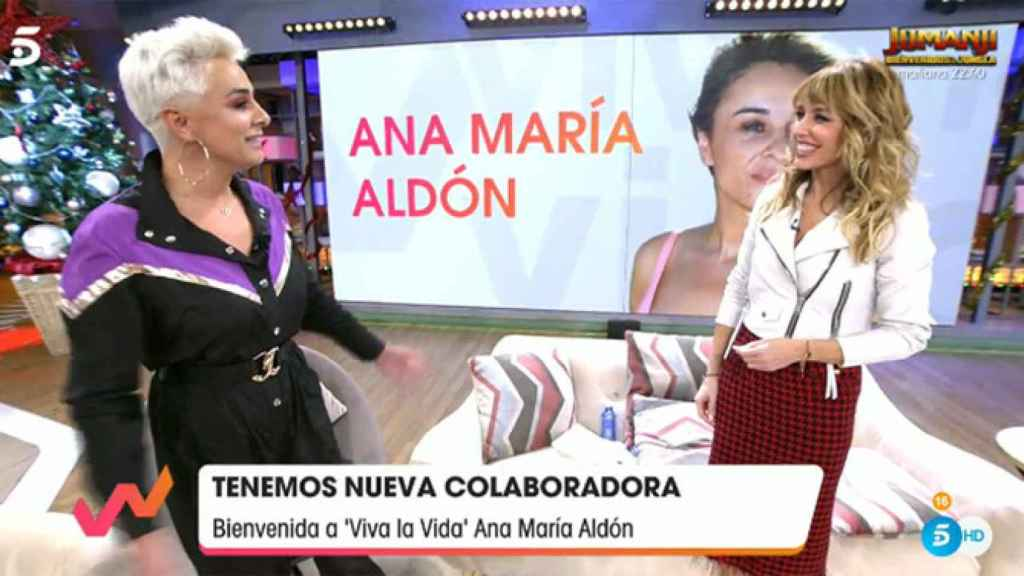 Ana María Aldón durante su estreno como colaboradora en 'Viva la vida'.