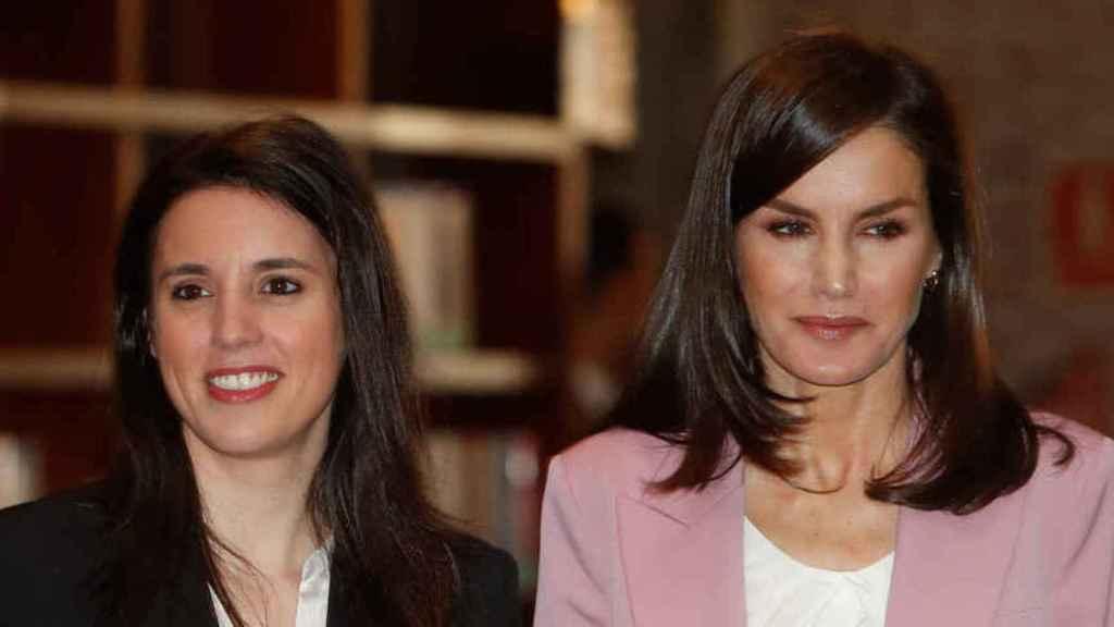 Letizia e Irene Montero, durante su encuentro el pasado mes de marzo.