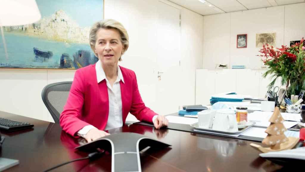 Ursula von der Leyen, durante la conversación telefónica con Johnson este lunes
