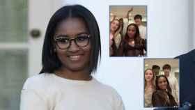 Sasha Obama en montaje de JALEOS junto a dos momentos del polémico vídeo.