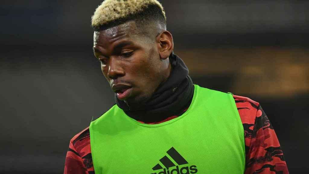 Paul Pogba, en un entrenamiento del Manchester United