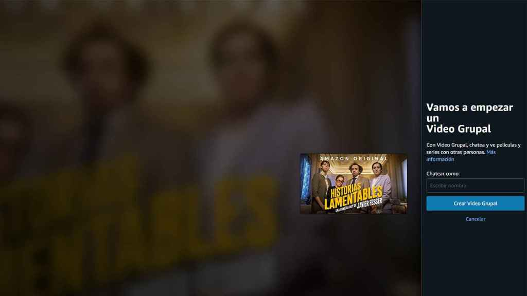 Video grupal de Amazon Prime Video.