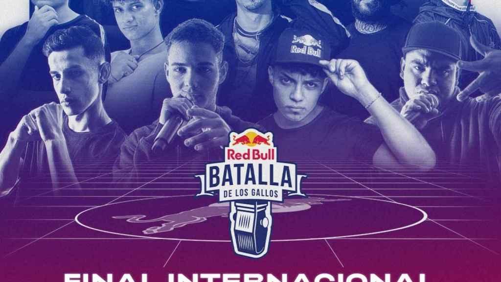 Cartel promocional de la Final Internacional de la Red Bull Batalla de los Gallos
