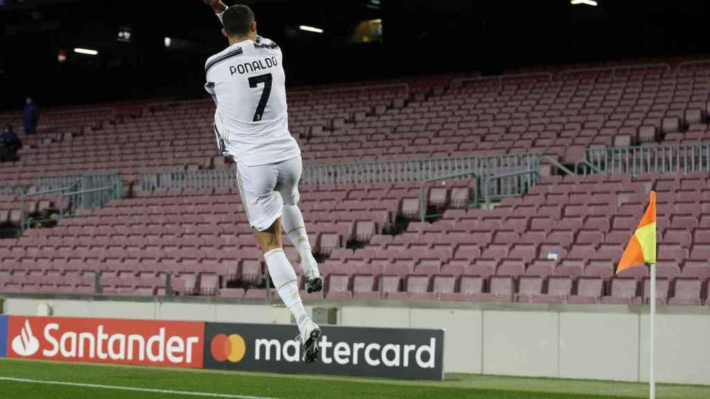 El mítico salto de celebración de un gol de Cristiano Ronaldo