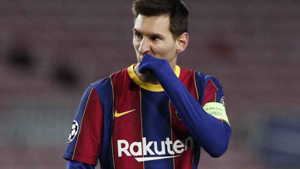 Leo Messi, durante el partido ante la Juventus