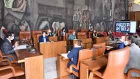 Reunión del Comité Institucional del proyecto 'Geoparque Volcanes de Calatrava. Ciudad Real'. Foto: Diputación