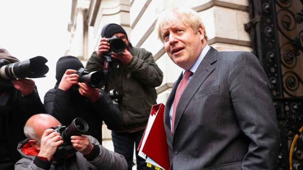 El primer ministro británico, Boris Johnson, este martes en Downing Street