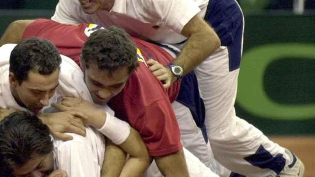 Los jugadores y el cuerpo técnico, sobre Juan Carlos Ferrero