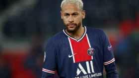 Neymar durante un partido del PSG