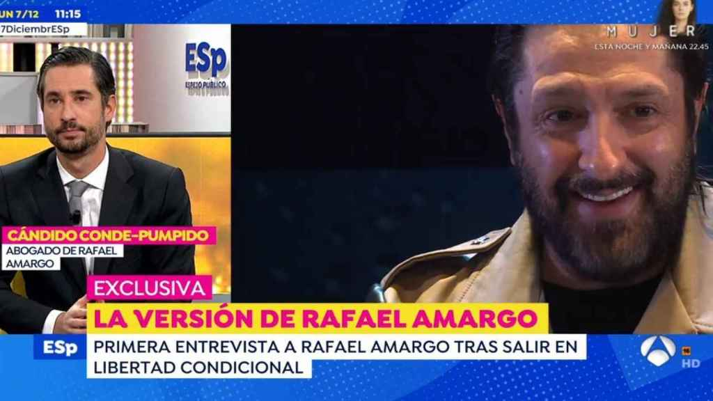 El abogado de Rafael Amargo en 'Espejo Público' (Antena 3)