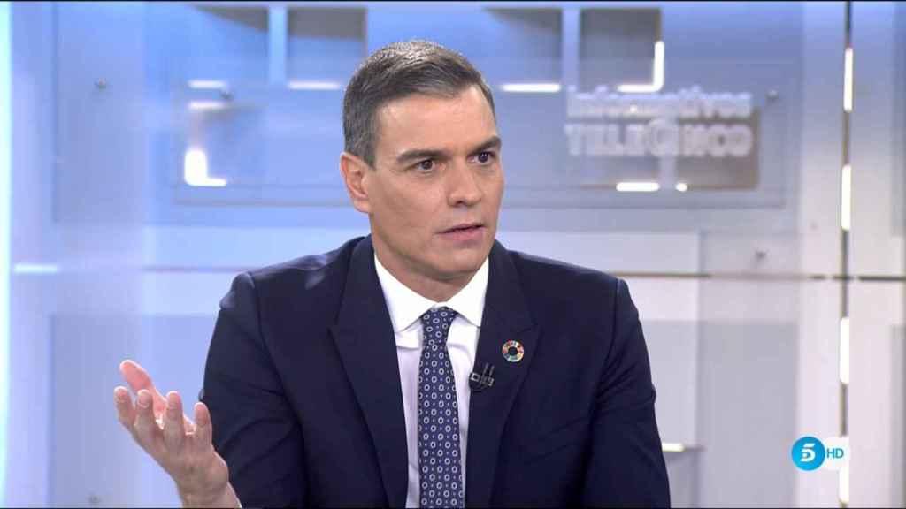 Pedro Sánchez, entrevistado en Tele 5.
