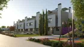 Imagen de la promoción Park74 que construye Kronos Homes en Torrejón de Ardoz (Madrid).