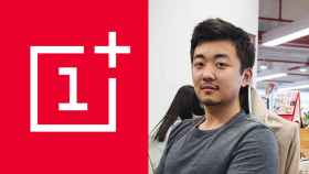 El logo de OnePlus al lado del rostro de Carl Pei