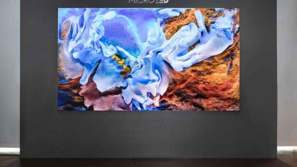 Televisor MicroLED de 110 pulgadas