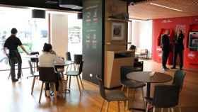 Nuevo concepto de oficina Work Café del Banco Santander.