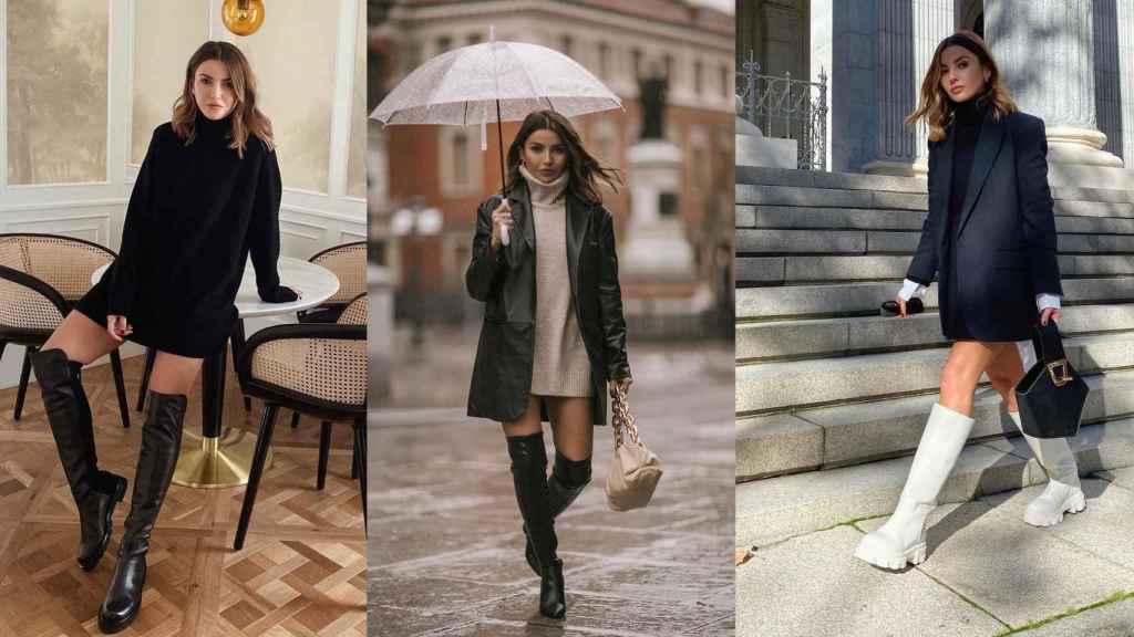 Alexandra Pereira tiene el truco definitivo para lucir vestidos 'mini' sin pasar frío