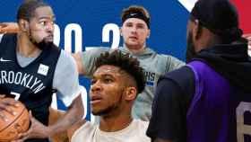 Kevin Durant, Luka Doncic, Giannis Antetokounmpo y LeBron James