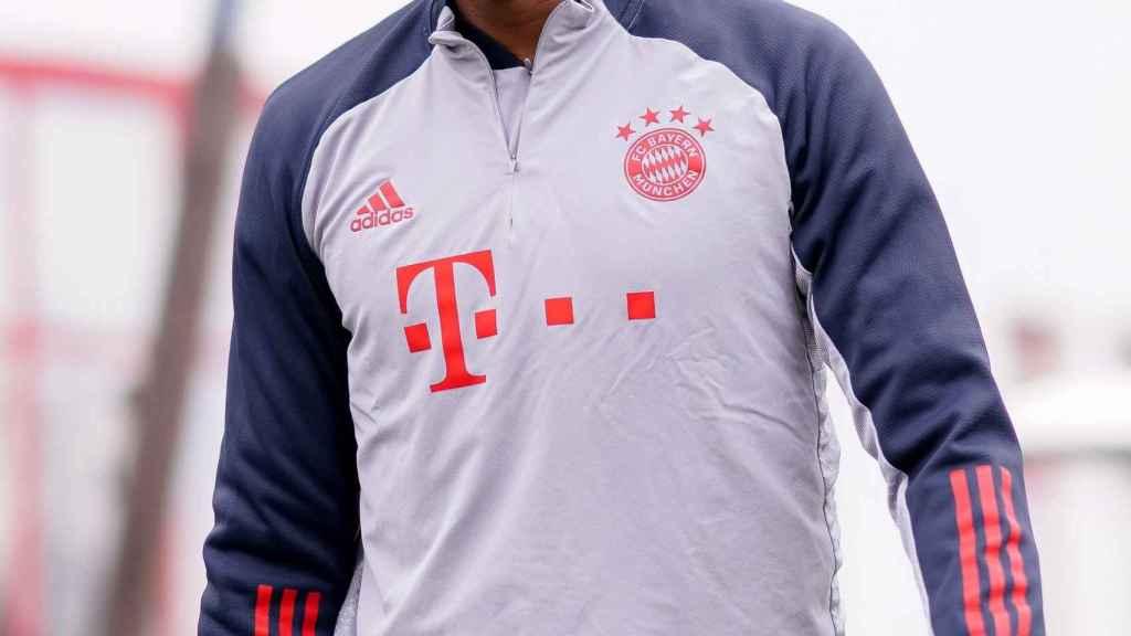 Alaba durante un entrenamiento del Bayern
