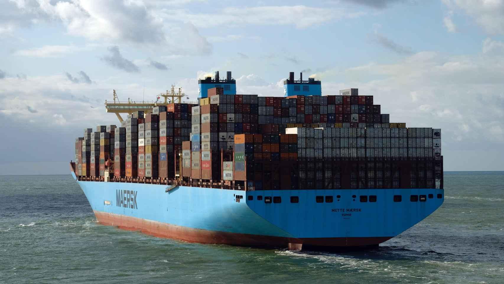Uno de los buques de mercancías de la multinacional Maersk.