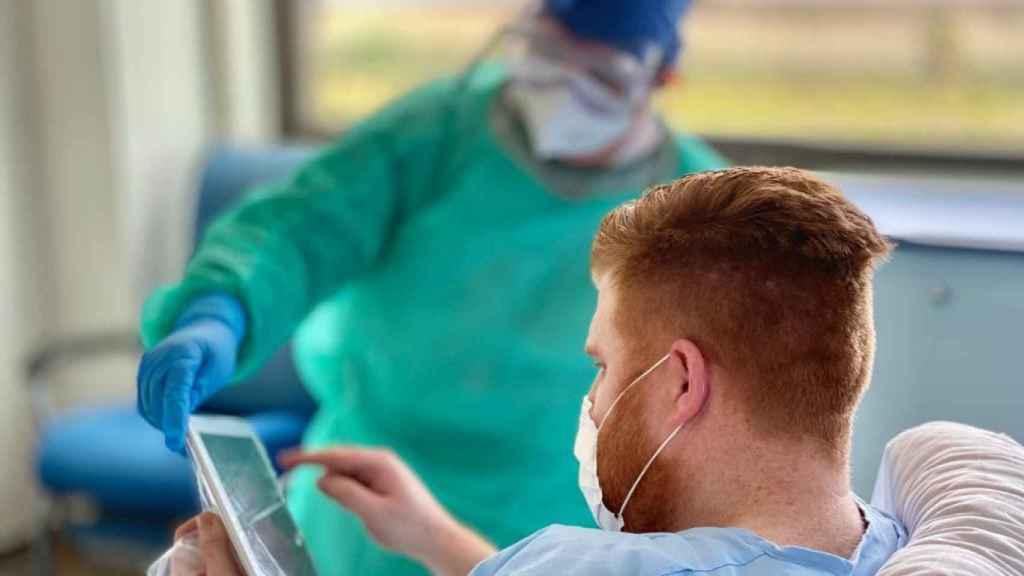Uno de los pacientes del centro Ribera Salud.