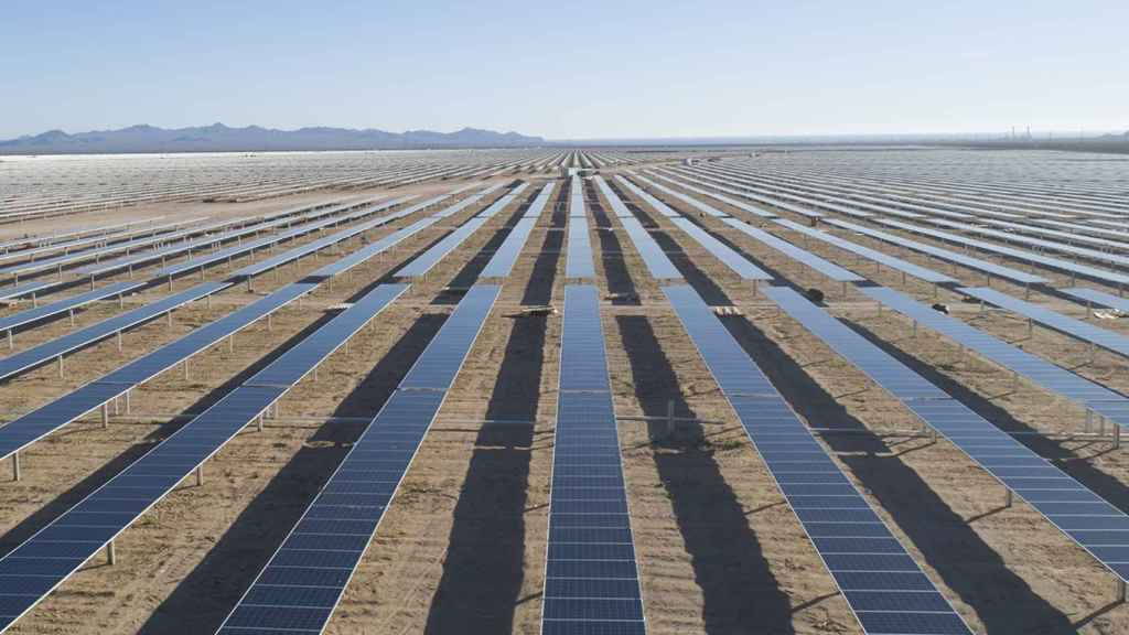 Un campo de energía fotovoltaica.