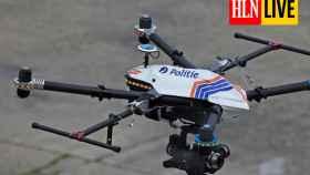 Uno de los drones encargados de garantizar el cumplimiento de las restricciones en Bélgica.