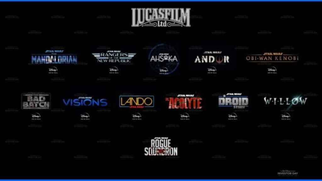 Cuadrante de todos los estrenos de Star Wars y Lucasfilms