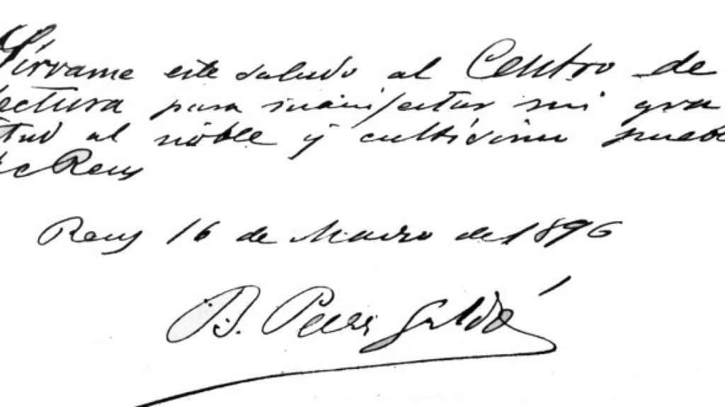 Manuscrito de Galdós a Emilia.
