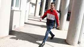 El joven que en 2015 agredió a Rajoy, Andrés de V.F, conocido como Capi, a su llegada a los Juzgados de Pontevedra en una imagen de archivo.