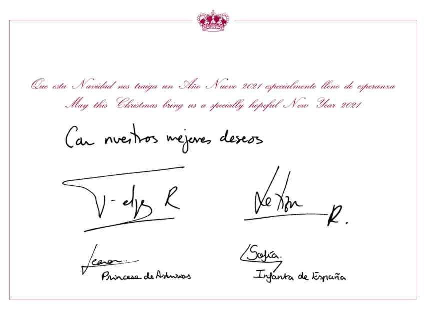 Felicitación navideña de la Familia Real.