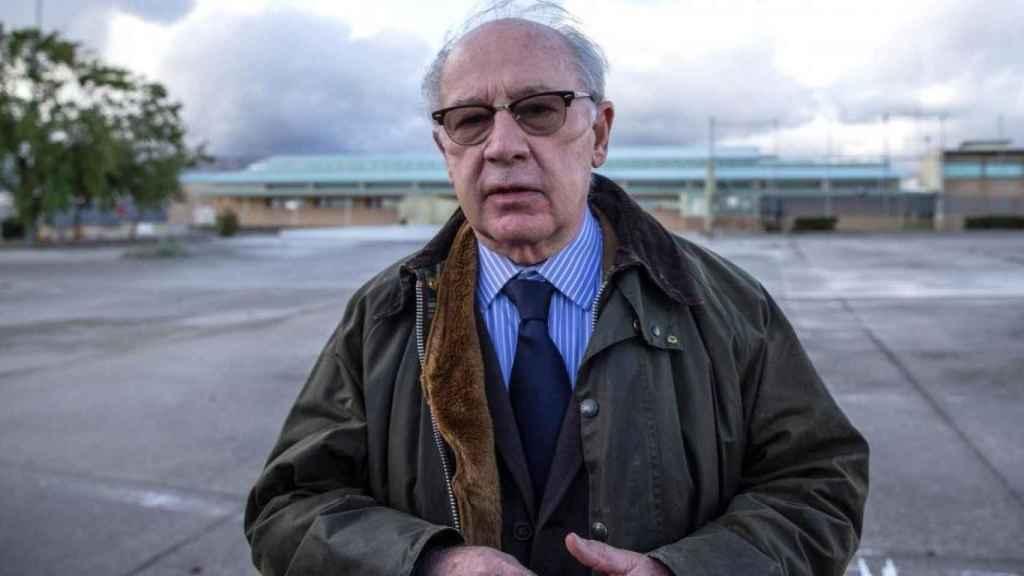 Rodrigo Rato a su salida de la prisión de Soto del Real, el pasado 2 de octubre de 2020.