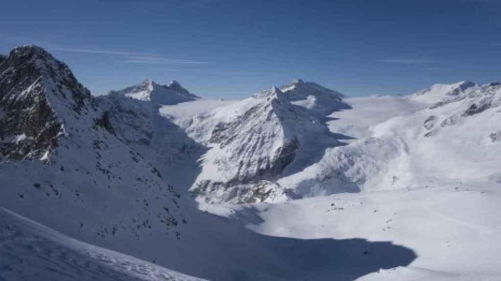 Imagen de un glaciar en los Alpes italianos.