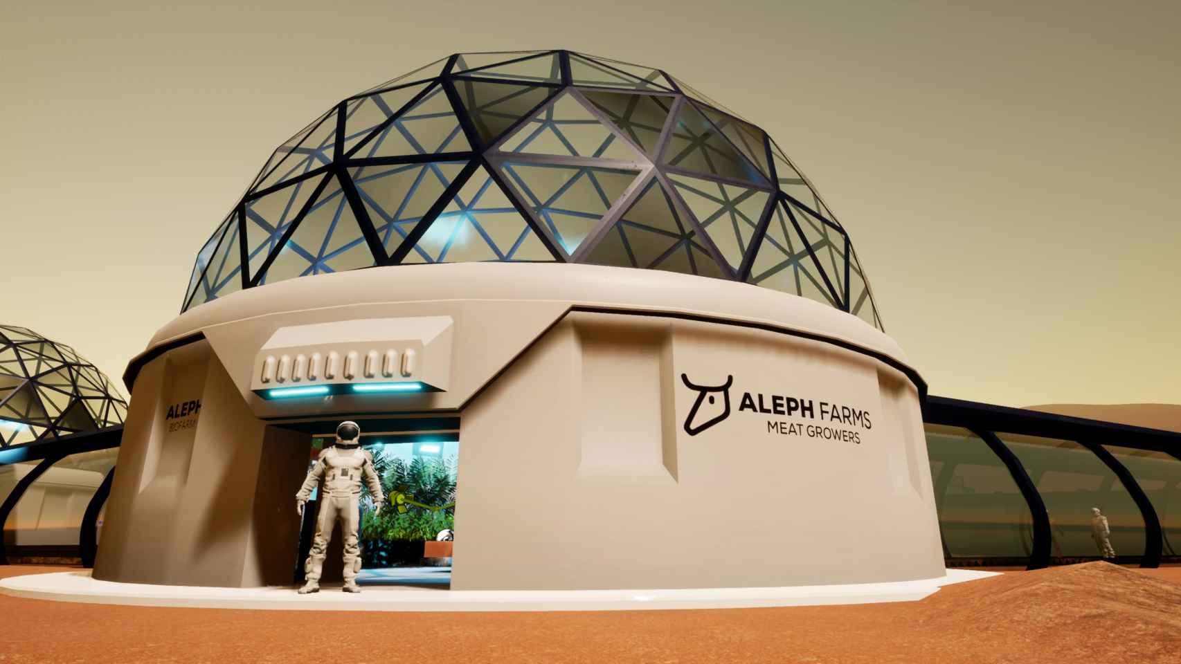 Simulación de las 'Biofarm' creadas por Aleph Farms para sus alimentos del futuro.