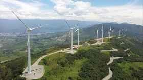 Imagen del parque eólico Villonaco I en Ecuador.