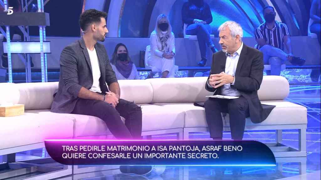 Asraf y Carlos Sobera, en el plató de 'Volverte a ver'.