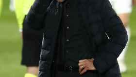 Simeone se lamenta de una ocasión fallada por el Atlético de Madrid
