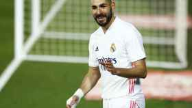 Karim Benzema, en un partido del Real Madrid